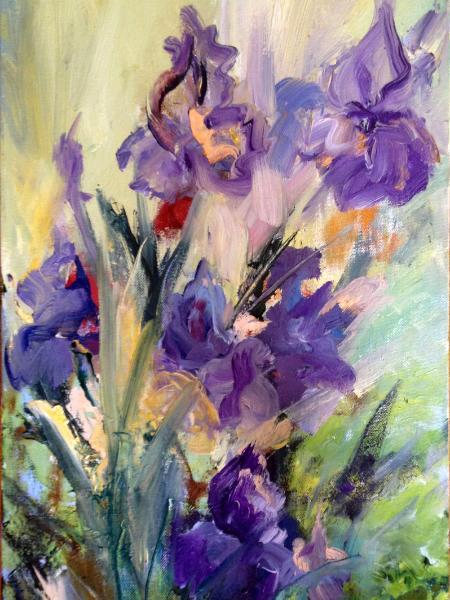 Blue and purple irises